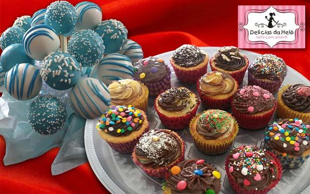 Leve pra sua festa essas delícias que fazem o maior sucesso com crianças e adultos! Desconto em até 48 unidades de Mini Cupcakes ou até 40 Popcakes a partir de R$24,90 na Delícias da Helô.