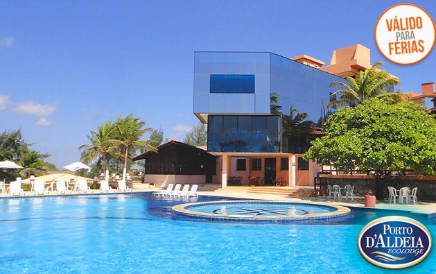 Férias com diversão e conforto no Porto D'Aldeia Eco Lodge Fortaleza: até 3 Diárias para 2 pessoas + Café da manhã + 1 Criança até 8 anos GRÁTIS a partir de R$199. Válido até 31/MARÇO/2018!!!