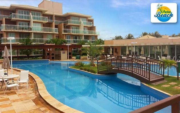 Apartamento Mobiliado no Porto das Dunas em condomínio de alto padrão com o conforto que sua família merece! Desconto em 1 ou 2 diárias para até 5 pessoas (adulto ou criança) no Palm Beach Aquiraz, ao lado do Beach Park, a partir de R$299.