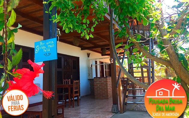 Programe nas suas Férias dias inesquecíveis em Icaraizinho de Amontada! 2 Diárias para 2 pessoas e 1 criança até 7 anos + Café da manhã a partir de R$330 na Pousada Brisa Del Mar.