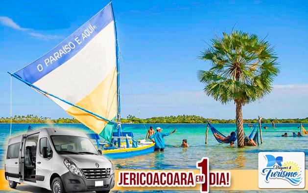 Encante-se com as belezas naturais da praia mais linda do Ceará com a DS Viagens & Turismo! Passeio de 1 dia para Jericoacoara por apenas R$119.