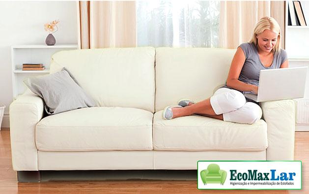 Revitalize seus estofados com a higienização especializada da EcoMaxlar! Lavagem de Sofá, Colchão, Cama Box, Poltronas, Cadeiras de Mesa ou Tapete a partir de R$35,90.