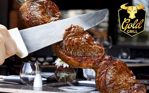 OFERTA ESPECIAL DE INAUGURAÇÃO!!! Desconto em Rodízio de Carnes + Buffet com Pratos Quentes, Saladas e Sushis a partir de R$26,90. Válido para Almoço ou Jantar!