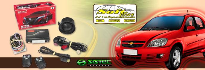 Segurança em primeiro lugar na Soft Car! Desconto em Alarme Automotivo Sistec com Controle Manual + 3 anos de Garantia + Instalação por apenas R$119,90. Garanta já seu cupom!