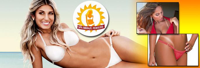 Fique com lindas marquinhas no Spa Bronze Perfeito! Sessão de Bronzeamento 100% Natural por apenas R$29,90.
