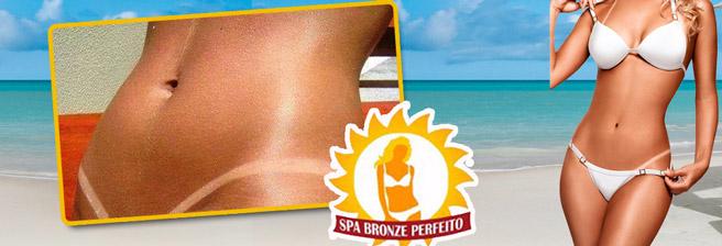 Fique com lindas e sensuais marquinhas no Spa Bronze Perfeito! Sessão de Bronzeamento 100% Natural + Banho de Lua por R$29,90.