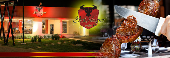 Churrascaria Boi Negro Aguanambi: Rodízio de Carnes + Buffet com Pratos Quentes, Saladas e Sushi por R$26,90. Válido para Almoço ou Jantar.