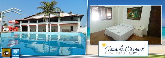 Praia da Caponga: 2 diárias para 2 pessoas (quarto com ar-condicionado) + Criança de 0 a 12 anos  + Café da manhã por R$199,90.