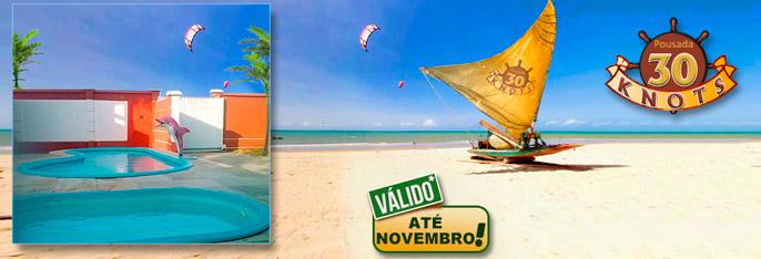 Praia de Tabuba: 2 Diárias para 2 pessoas + 2 Crianças até 12 anos + Café da manhã a partir de R$110 na Pousada 30 Knots! Sossego e lindas paisagens bem pertinho da Capital. Válido até NOVEMBRO*2016!!!