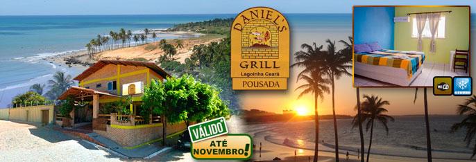 Encante-se com a as belezas naturais da Praia da Lagoinha! 2 Diárias para 2 pessoas + Criança* + Café da manhã na Pousada e Restaurante Daniel´s Grill por R$169,90. Válido até NOVEMBRO/2016*!!!