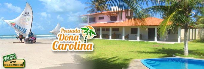 Aproveite o melhor da Praia de Águas Belas na Pousada Dona Carolina! Até 5 Diárias para 2 pessoas + Café da manhã a partir de R$129. Válido para check-in até 20/DEZEMBRO/2016!!!