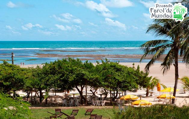 Praia de Mundaú: um paraíso onde a natureza foi generosa! Desconto em 2 Diárias para 2 pessoas + 1 Criança até 7 anos GRÁTIS + Café da manhã a partir de R$149.