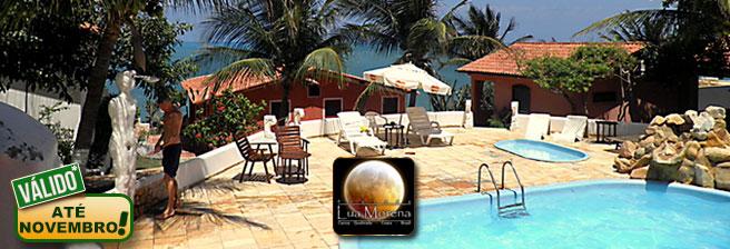 Canoa Quebrada: até 3 Diárias para 3 Pessoas com Café da Manhã em Apartamento ou Chalé na Pousada Lua Morena a partir de R$179! Válido até NOVEMBRO/2016!!!