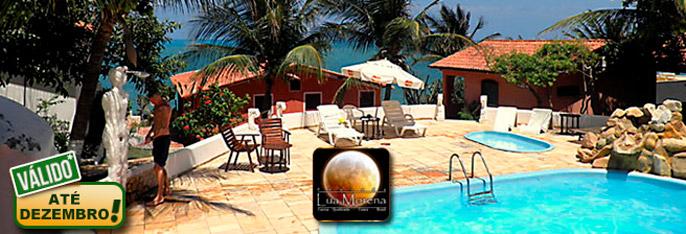 Canoa Quebrada: até 3 Diárias para 3 Pessoas com Café da Manhã em Apartamento ou Chalé na Pousada Lua Morena a partir de R$179! Válido até DEZEMBRO*/2016!!!
