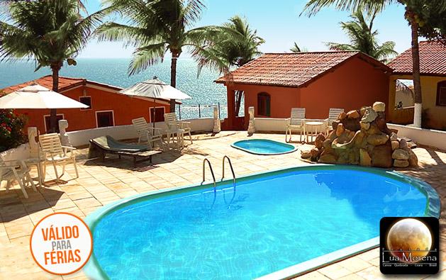 Alta Temporada em Canoa Quebrada: 2 Diárias para até 3 Pessoas com Café da Manhã em Apartamento ou Chalé Vista Mar na Pousada Lua Morena a partir de R$279!