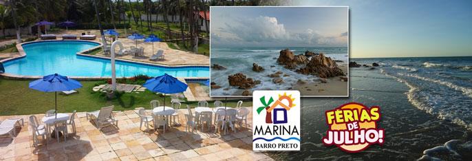 Aproveite as Férias de Julho para dias de lazer e descanso na Pousada Marina Barro Preto! Desconto em 2 diárias em chalé Standard para 2 pessoas com café da manhã por R$189! Válido até OUTUBRO/2016.