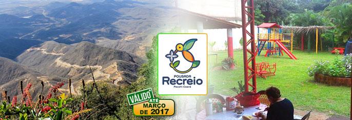 Viaje para a Serra e aproveite o clima ameno e as belezas naturais de Pacoti! Desconto em 2 diárias para 2 pessoas + 1 Criança* de 0 a 5 anos + Café da manhã na Pousada Recreio por apenas R$159,90.