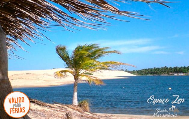 Dias de Férias inesquecíveis de frente pro mar no Espaço Zen da Praia de Uruaú! Desconto em 2 Diárias para até 8 pessoas em Chalé ou Casa a partir de R$199.