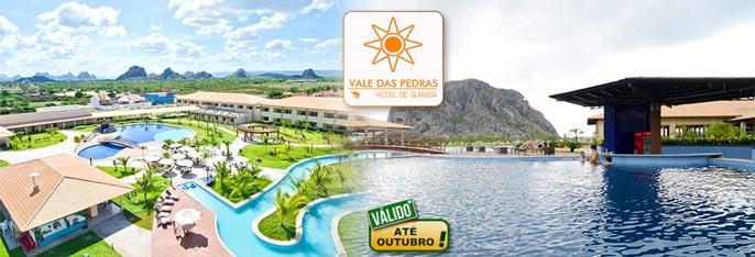 Conforto e lazer em excelente infraestrutura no Vale das Pedras Hotel de Quixadá! 2 diárias para 2 pessoas + 1 Criança de 0 a 7 anos + Café da manhã a partir de R$239.