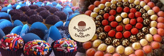 Sua Festa mais gostosa com os Brigadeiros da Dedeth! 100 Docinhos (até 4 Sabores por Cento) ou Kit Festa com 100 Docinhos + 20 Cupcakes + 20 Copinhos de Brigadeiro a partir de R$24,99.