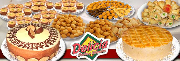 Kit Festa Delícia Doces e Salgados: Torta Doce para 40 pessoas + 1 Torta de Frango (1,5kg) + 400 salgados + 100 Tortinhas por R$99,90!