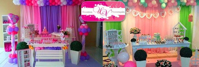 Tudo que você precisa pra sua festa ficar linda! Aluguel de Peças Provençais + opcional com 100 Mimos na Eventos U&V Provençais a partir de R$110.