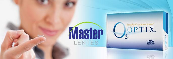 Conforto, praticidade e qualidade para sua visão com a Master Lentes! Caixa com 3 pares de Lentes de Contato O2 Optix por apenas R$99,90. Indicações: Miopia e Hipermetropia.