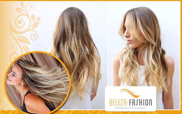 Beleza Fashion Aldeota: Californianas OU Ombré Hair ou Mechas com Tonalizante + Tratamento de Queratina OU Californianas OU Ombré Hair OU Escova Inteligente a partir de R$49,99!