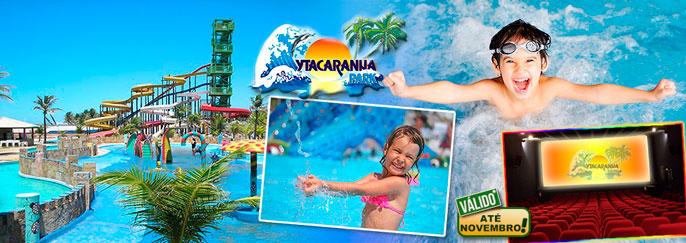 Diversão pra toda família no Ytacaranha Park: 1 ou 2 Ingresso(s) Adulto + 1 ou 2 Criança(s)* até 8 anos para o Parque Aquático + 2 ou 4 Entradas para o Cinema a partir de R$34,90!