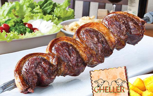Desfrute deliciosos momentos na tradicional Churrascaria Gheller! Desconto em Rodízio de Carnes + Buffet Liberado com Sushi, Massas, Pratos Quentes e Saladas a partir de R$32,90.