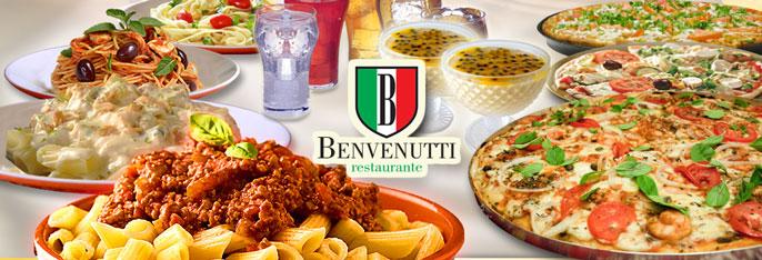 Rodízio Completíssimo de Massas e Pizzas + 1 Sobremesa e ainda Água e Refri à vontade para 1 ou 2 pessoas no Benvenutti a partir de R$25,90!