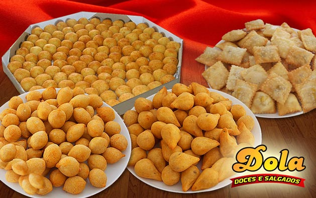 100 Salgados fritos variados da Dola Doces e Salgados por R$19,90! Retirada no local ou entrega* em toda Fortaleza.