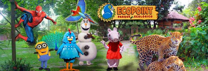 Final de Semana tem diversão garantida pra toda família no Parque Ecopoint! Desconto em 1, 2 ou 3 Ingressos (Adulto ou Infantil) a partir de R$13. Incluso todos os shows infantis. Válido também no Feriado de 07/09!!!