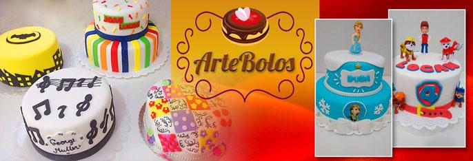 Bolo Artístico de 1 ou 2 andares decorado na Pasta Americana  para até 40 pessoas + 10 Cupcakes decorados + 10 Pirulitos a partir de R$ 89,90 na Arte Bolos!