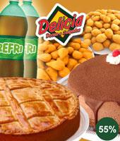 Torta doce e salgada + Salgados + Tortinhas + 2 Refris!