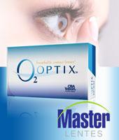 Caixa com 3 pares de Lentes de Contato O2 Optix!